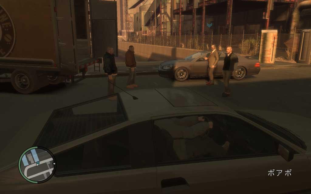 チンピラ4人が取引の真っ最中。トラックの中身には興味ないんで、となりの車もらっていい?