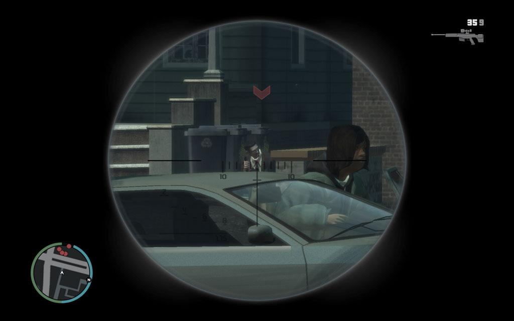 道路を挟んだ向かい側の住宅まで移動してから、スナイパーライフルで一人ずつ狙撃するのが吉。