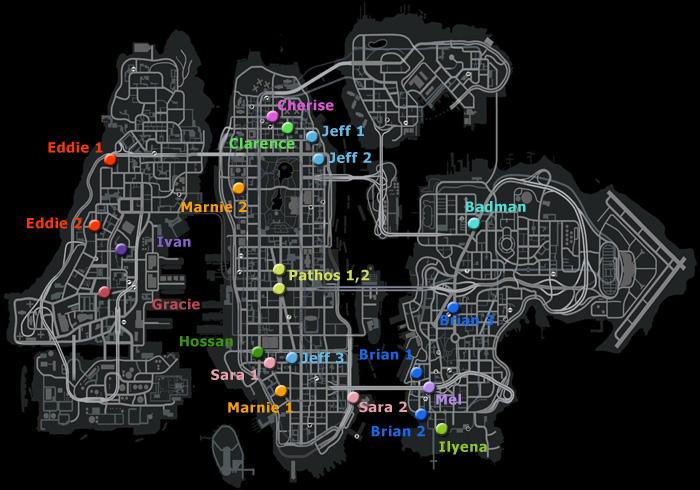 ランダムキャラクターの出現マップ