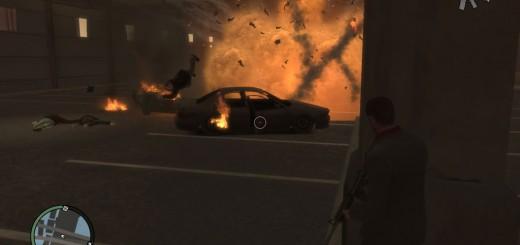 3台の車がターゲットを取り囲むように配置されているため、車を誘爆させるのもアリ。