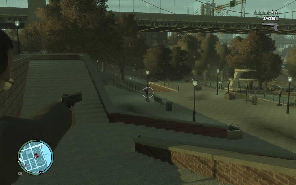 間合いが十分なら敵の弾丸はほとんど当たらないはずだ。遠距離からのスナイピングなら尚安全。