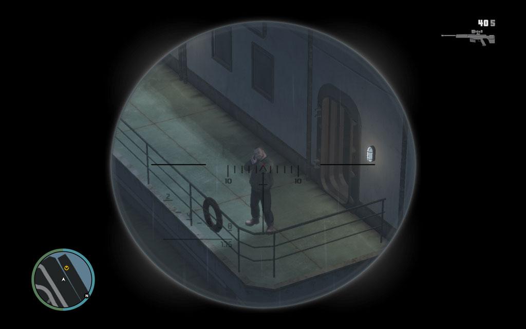 クレーンの足場からスナイピングすれば、敵に隠れられる場所などない。存分にHSをキメてやろう。