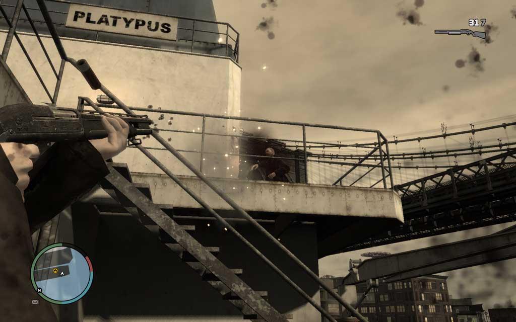 狭い船内とは違い、開けた場所では広範囲な索敵が必要だ。敵は同じ階(フロア)にいるとは限らない。頭上も注意。