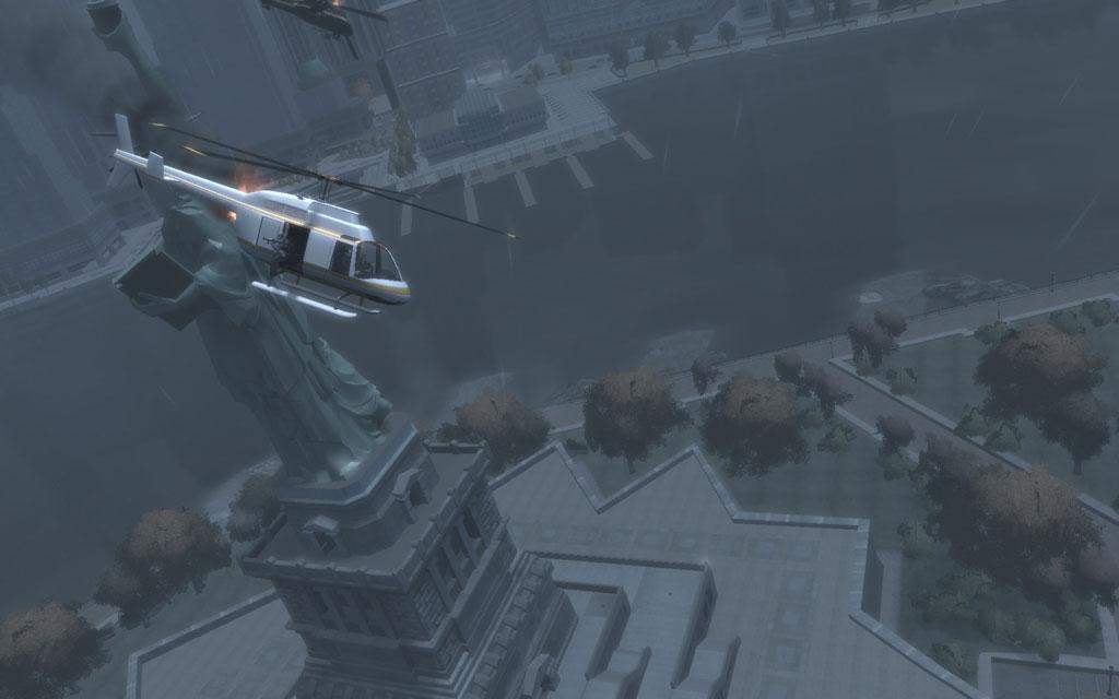 ディミトリのヘリは墜落寸前の状態でハピネス島に不時着する。すぐさま追いかけて、カス野郎に止めを刺そう。