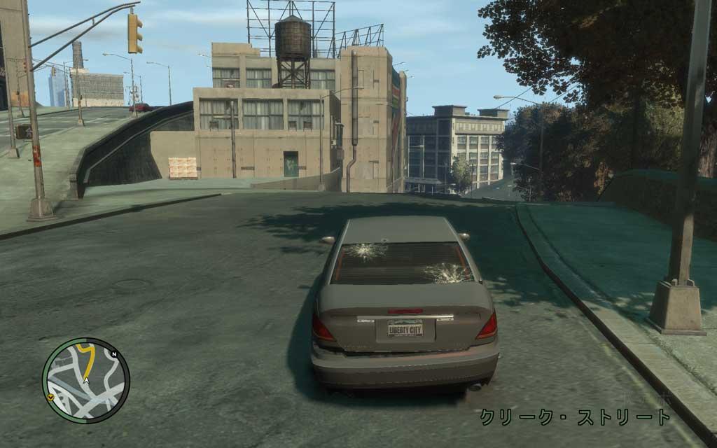 敵の追跡を受けている間、ヤツらはドンパチ撃ってくるので、車のリア部にはかなりの損傷を受けてしまう。