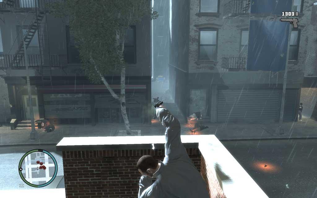 屋上にいれば、少なくとも背後と左右の死角を取られることがないため、比較的安全に迎撃できる。