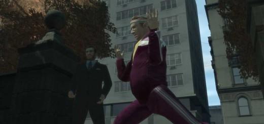 「あたしのお尻を見てぇ〜」と言いながら走っているバーニー。条件反射的にケツに目が行ってしまう自分がイヤだ。