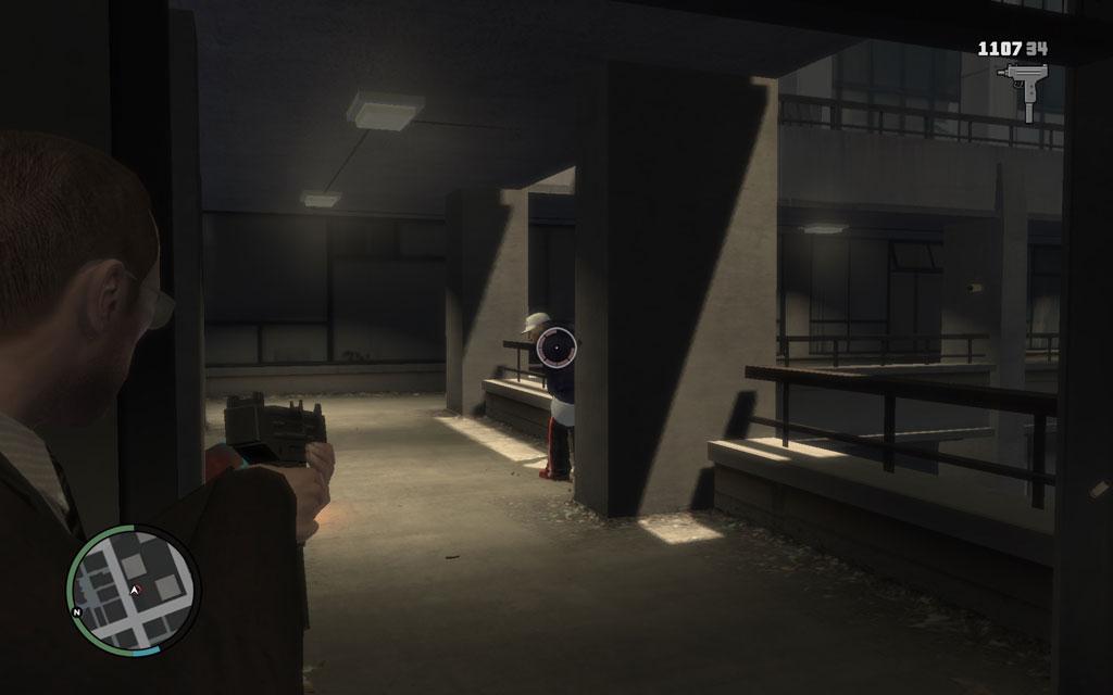 団地内はそこら中に敵がいるが、柱など身を隠す場所が豊富なので、随時カバーポジションをとりながら敵の相手をしよう。