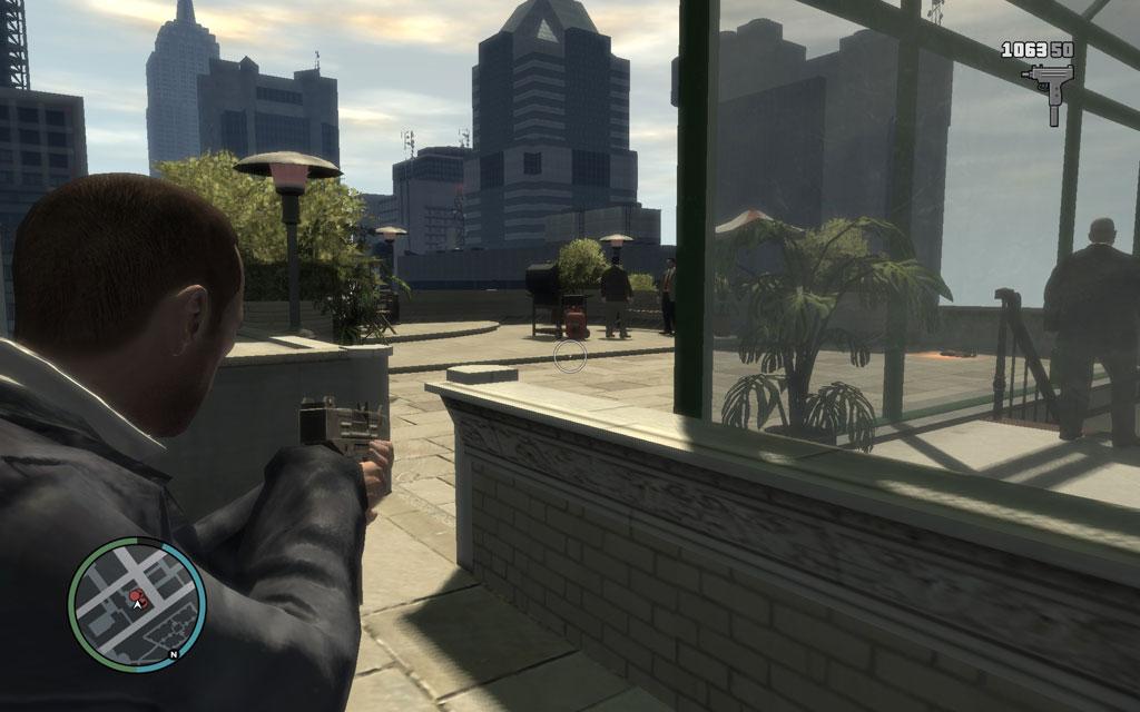 そぉ〜〜〜と、近づいて、ガスボンベを撃っちゃおう。発砲するまで敵はこちらに気づかない。
