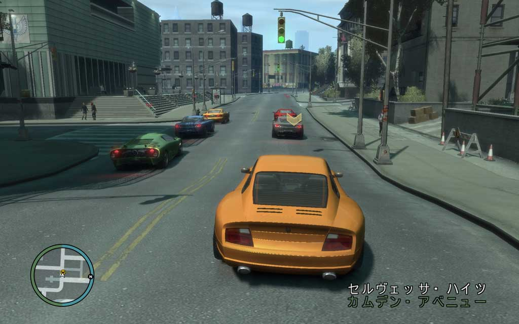 加速しながら誰かの車に当て逃げできれば、そのままレースが強制スタートするので、いきなりトップになれるかも。