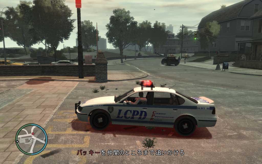 バッキーの車は路地裏をスルスルとすり抜けていくので、見失わないよう注意が必要。