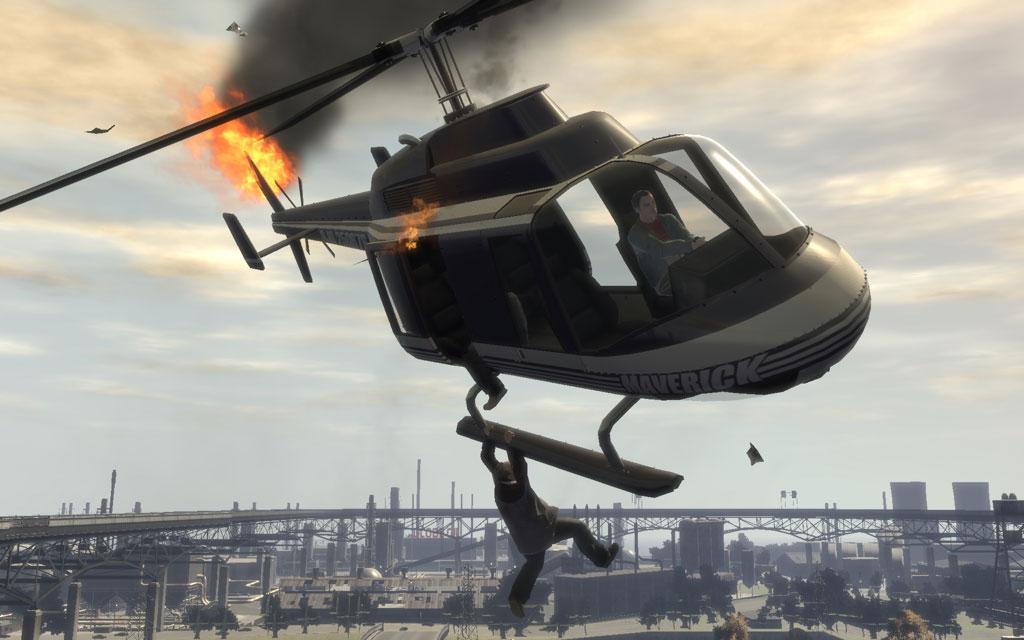 RPGをヒットさせられれば、チャーリーはヘリもろとも爆死してくれる。ご愁傷さまでした。
