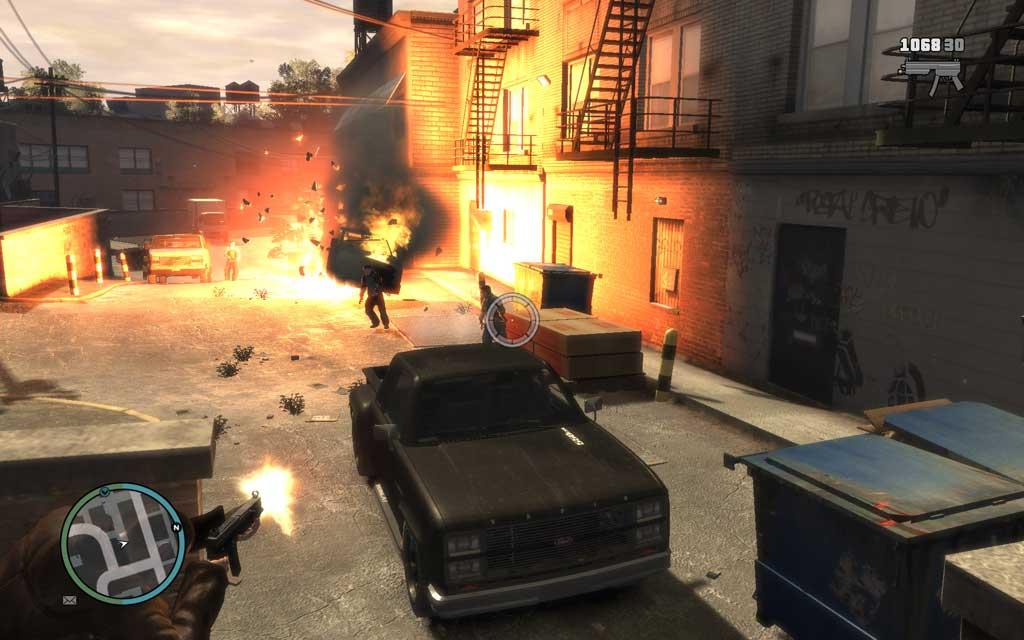 奇襲の初手はグレネード攻撃がオススメ。爆風で怯んだ敵に弾丸をお見舞いしてやろう。